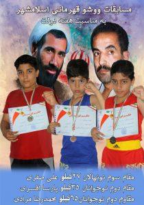 مسابقات ووشو قهرمانی اسلامشهر به مناسبت هفته دولت